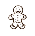 Gingerbread cookie man vector image vector image