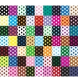 Polka dots 63 seamless patterns vector image