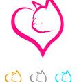 Cat Heart vector image