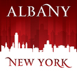 Albany New York city skyline silhouette vector image vector image