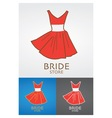Bride Fashion Store Design Logo vector image