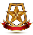 3d classic royal symbol sophisticated protection vector image