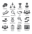 Business management icons Pack 03 vector image