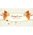 autumn label with grapes vector image vector image