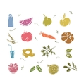 Doodle Vegetables and healthy food vector image