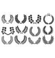 laurel wreath collection vector image