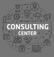linear consulting center vector image