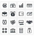 Money finance icons collection vector image