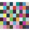 Polka dots 63 seamless patterns vector image