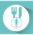 Silhouette person food icon design vector image