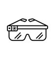 smart glasses outline Icon vector image