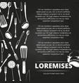 vintage restaurant chalkboard poster design vector image
