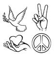 Peace symbols vector image