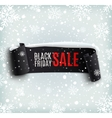 Black Friday sale background with black realistic vector image