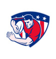 american rugby icon vector image
