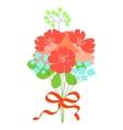 Beautiful flower bouquet Wedding invitation or vector image