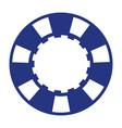 blue casino poker chip vector image