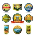 Camping emblems set vector image