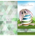 Easter Bunny With Colorful Egg vector image