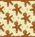 gingerbread man pattern vector image