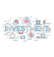investment strategy profit capital growth vector image