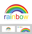 Rainbow brush stroke colorful logo vector image