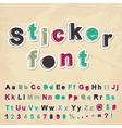 Sticker font vector image
