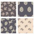 winter seamless pattern pine cone cedar vector image