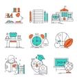 Conceptual Basic Education Icon Set vector image vector image