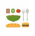 Vegan Breakfast Set vector image