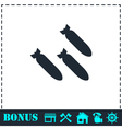 Bombing icon flat vector image