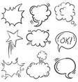 doodle of text balloon hand draw set vector image
