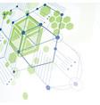 modular bauhaus 3d green background created from vector image