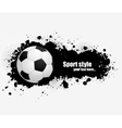 Grunge banner with soccer ball vector image
