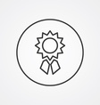 achievement outline symbol dark on white vector image