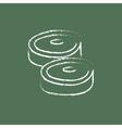 Steak icon drawn in chalk vector image