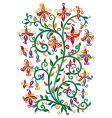 renaissance floral vector image