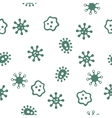 Microbes Seamless Seamless Flat Pattern vector image