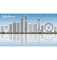 Yokohama Skyline with Gray Buildings vector image