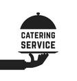 black catering service emblem vector image