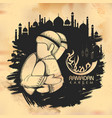 eid mubarak happy eid background for islam vector image