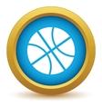 Gold basketball icon vector image
