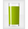 Green Smoothie in a Glass vector image