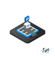 Isometric parking icon building city infographic vector image