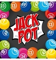 jack pot casino game icon vector image