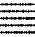 Sound waves set EPS 10 vector image