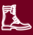 the image of a man s boot vector image