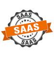 Saas stamp sign seal vector image
