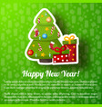 happy new year greeting poster vector image