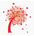 a love tree Valentines postcard vector image